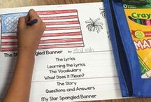 Teaching about the U.S. Flag & National Anthem / This board includes videos of people performing the Star Spangled Banner, teaching links, and craft ideas that celebrate our flag.