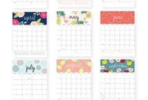 PRINTABLES / Printable wall art, printable calendars, planner printables, organizational printables and more!