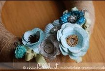 PAPER FLOWERS, Leaves, Wreathes, & such / Handmade flowers, leaves, craft embellishments