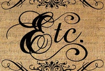 Font, Type, and Lettering / by Deb Allard