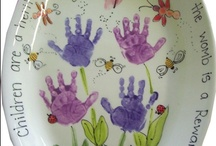 Hand prints and foot prints