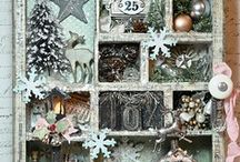 FRAMES and Wall Hangings, Canvas Board / Anything with a frame, canvas board, or wall hanging that has been stamped and altered, or painted, stamped, embellished