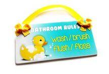 Kids Bathroom Signs
