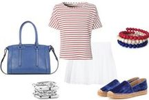 4th of July: Firework Fashion / How to go red, white, & blue without being too literal. / by Emilie M. Handbags
