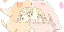 UsUk / Sweet shit / oh my god / I'm dying / otp / i can't even / love those idiots / look at them / kawaii shit