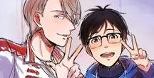 Yuri on ice / some good shit // oh yes // yaoi // yuri on ice // whos yuris daddy // mmmmmmh // yaoi on ice // good shit right there // right there
