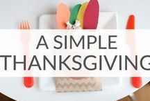Simple Thanksgiving Ideas / You'll be grateful for these simple Thanksgiving ideas including easy Thanksgiving pie recipes, table Thanksgiving decorations, and Thanksgiving table decorations.