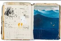 Art Journals / Every journal becomes an art journal... mine shine a light on my mind.. / by Alicia Stamm