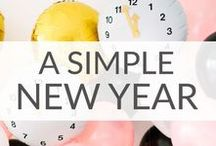 Simple New Years Ideas / Ring in the New Year with these simple New Years ideas.