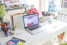 Home Office Ideas for Women / I love home office ideas for women. I'm always inspired by the home organization.