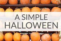 Simple Halloween Ideas / Simple, family-friendly Halloween ideas to keep your Halloween festive and stress-free!   Halloween food, Halloween Games, Halloween Party Ideas