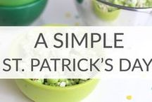 Simple St. Patrick's Day Ideas / Lucky You! These simple St. Patrick's Day ideas will help you celebrate simply. St. Patrick's day food ideas, St. Patrick's day tradition ideas, St. Patrick's day crafts.