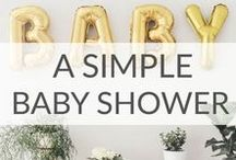 Simple Baby Shower Ideas / Simple Baby Shower ideas including baby shower themes, baby gifts, baby shower favors, baby shower food ideas, and more.