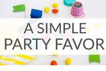 Simple Party Favors Ideas / Simple party favors will make everyone remember your party!