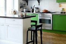 Painted Cabinets / Painted hues on cabinets can make a space standout -are you painting your cabinets?