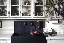 Black & White  / While bright hues sing, black and white can make an impact in any homes kitchen decor. It's crisp, it's cool and chic.