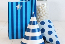 Navy blue party / Navy blue chevron, navy blue decorations and navy blue party ware available at www.thecompletekidsparty.com.au