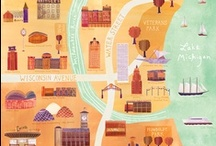Illustrations - travel and maps