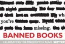 """Banned Books Week 2013 / Sept. 22-28, 2013. """"Banned Books Week is an annual event celebrating the freedom to read... Banned Books Week brings together the entire book community –- librarians, booksellers, publishers, journalists, teachers, and readers of all types –- in shared support of the freedom to seek and to express ideas, even those some consider unorthodox or unpopular."""" -ALA http://www.ala.org/bbooks/bannedbooksweek,   Check out some of these challenged and banned books and celebrate your freedom to read."""