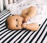 Nursery Bedding & Decor / Luxury nursery bedding and decor including organic muslin swaddles, sheets, crib mattresses, sheets and mobiles