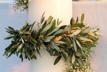 Wedding Florals - All Contribute / Help give me inspiration for my Mediterranean-vibe wedding florals! Think lots and lots of greenery :)
