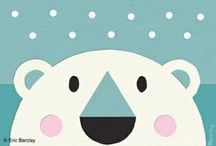 Art for Children / art and illustration ideas and inspiration for children's living spaces collected by Young America #PolarBearDay / by Young America