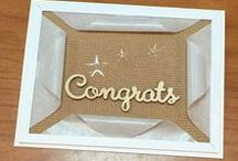 Congratulations / DIY Congratulations cards, decor and gifts handmade and handstamped with Stampin' Up! products by Candy Ford of Stamp Candy