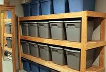 Organized Garage / Get your garage organized with these garage organizing tips & tricks!
