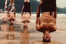 INVERSIONS headstand poses por Aero Yoga International