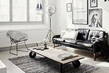 Living Rooms - Vintage Industrial Style / Home decorating ideas for a living room in the vintage industrial interior design style.