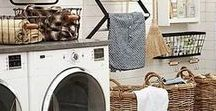 The Laundry Room & Mudrooms / Laundry rooms – those small, busy spaces often tucked in the most neglected slots in your home – doesn't have to always look messy. Sure, they're made for utility; there are always clothes to wash and clothes to press. But you can create a functional and stylish space that will help you make those unwanted chores pleasant at the least.