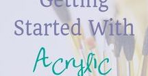 Painting / Tecniques and Painting Inspiration both Acrylic and Watercolor.  Watercolor painting, acrylic painting, watercolor painting for beginners,  acrylic painting for beginners