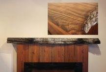 Rustic Fireplace Mantels / Our unique rustic fireplace mantels are made out of reclaimed redwood burl, twisted juniper logs, eastern red cedar, reclaimed driftwood, reclaimed hand hewn oak and barnwood.