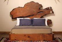 Burl Wood Furniture / Natural live edge burl wood slabs crafted into unique burl wood furniture