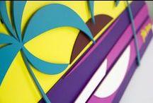 Artes em MDF / Artes feitas em camadas, cortadas a laser e pintadas a mão. / by Tom Veiga
