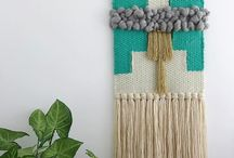 Weavings made by The Unusual Pear / Hand woven wall hangings by Rainie of The Unusual Pear.