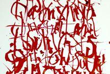 Asemic Writing & Script / Writing, manuscripts, calligraphy, asemic writing, typographical art