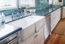 Kitchens / These days it seems that the kitchen is the heart of the home. It's more than a space to just prepare food - it's the room where friends and families gather. Here's a little kitchen inspiration...