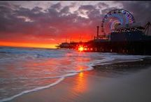 Santa Monica, California / beautiful beach enjoyed with friends and family