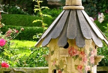 BIRD HOUSE ART / A variety of handmade or paper arts bird houses and bird related items