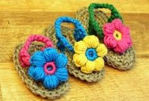 Crochet Booties / Patterns and ideas for crocheted booties.  - candleinthenight.com