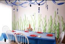 Birthday: Under the Sea / Fun ideas for an ocean themed birthday party!  We did this for M's 2nd birthday and it was SO cute!! - candleinthenight.com