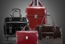 Monterosso / Our Monterosso collection of laptop cases, totes and duffle bag with fine croco leather.