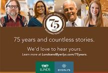 75th Anniversary / Lunds and Byerly's is celebrating 75 years! Here are some of the products that we like to celebrate.