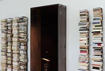Bookshelves and reading nooks