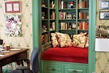 Reading Nooks! / Reading nooks, reading nook inspiration, home remodel, home inspiration.
