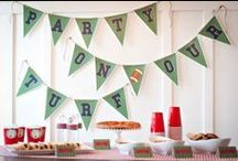 Game Day, Baby! :) / Super bowl recipes, Sunday Funday, Superbowl Sunday, DIY decor, DIY party decor, game day recipes.