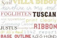 Fonts & Lettering / Cute fonts, monogram ideas, unique lettering ideas, DIY projects.