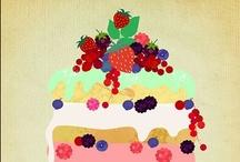 Food & Table Settings: Illustration
