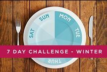 7 day Challenge - Winter / It may be for Winter but you can take on our 7 day Healthy Lifestyle Challenge to boost your weight loss at any time of the year.